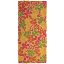 "Tag Estate Entry Mat - 18x40"", Coir in Petite Floral - Closeouts"