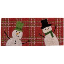 "Tag Estate Entry Mat - 18x40"", Coir in Snowman - Closeouts"