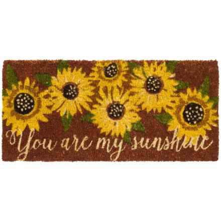 "Tag Estate Entry Mat - 18x40"", Coir in Sunflower/Sunshine - Closeouts"