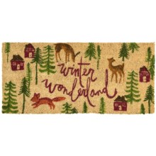 "Tag Estate Entry Mat - 18x40"", Coir in Winter Wonderland - Closeouts"