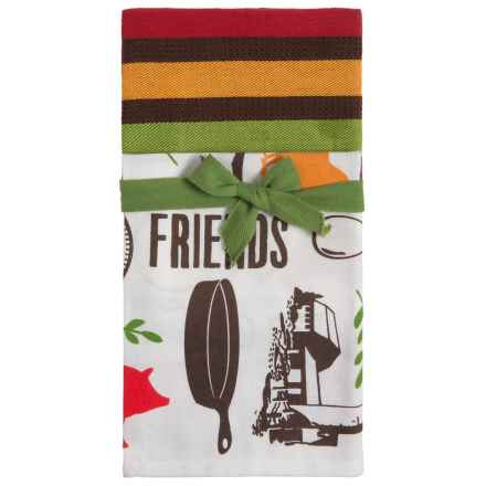 Tag Farm to Table Dish Towels - Set of 2 in Multi - Closeouts