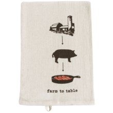 Tag Farm-To-Table Flour Sack Dish Towel in Bacon - Closeouts