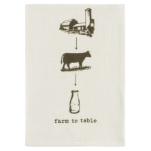 Tag Farm-To-Table Flour Sack Dish Towel in Milk - Closeouts