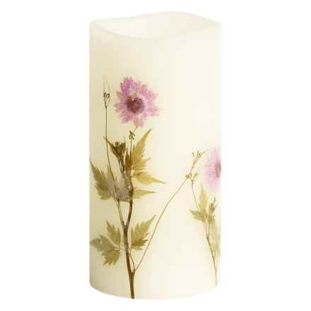"Tag Flameless LED Pillar Candle - 3x6"" in Cosmo Wildflower - Closeouts"