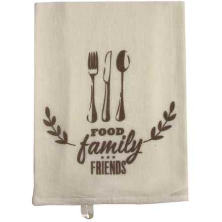 Tag Flour Sack Cotton Dish Towel in Food/Family/Friends - Closeouts