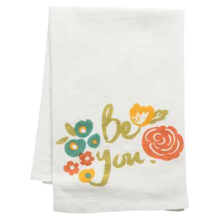 Tag Flour Sack Cotton Dish Towel in Ivory - Closeouts