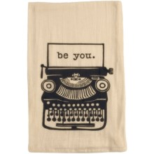 Tag Flour Sack Cotton Dish Towel in Type Writer - Closeouts