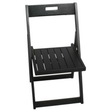Tag Folding Chair - Keuring and Acacia Wood in Black - Closeouts