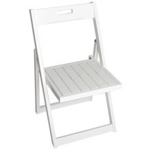 Tag Folding Chair - Keuring and Acacia Wood in White - Closeouts