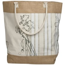 Tag French Kitchen Jute Shopping Tote Bag in French Kitchen - Closeouts