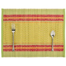 "Tag Garden Stripe Placemat - 19x14"" in Multi - Closeouts"