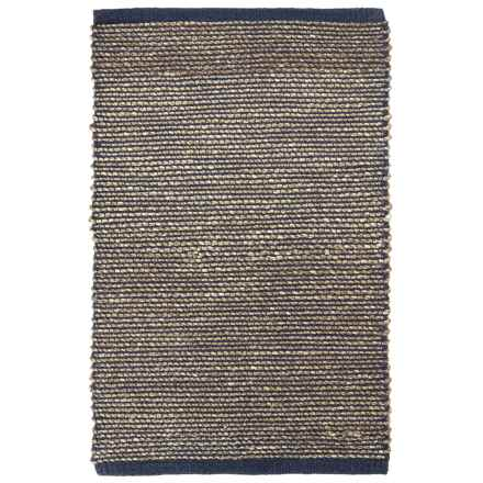 "Tag Hand-Woven Seagrass Accent Rug - 24x36"" in Blue - Closeouts"