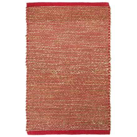 "Tag Hand-Woven Seagrass Accent Rug - 24x36"" in Red - Closeouts"