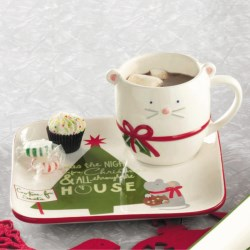 Tag Happy Holidays Cookies For Santa Mug and Plate Set in Red/Green/White