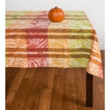 "Tag Harvest Jacquard Cotton Tablecloth - 60x84"" in Multi - Closeouts"