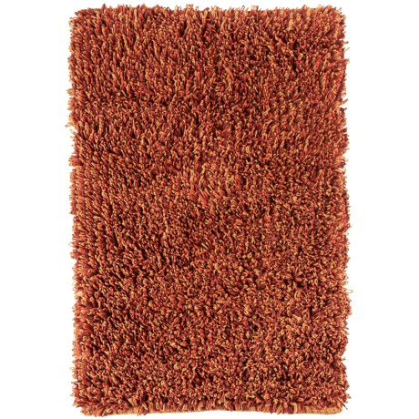 Tag Heathered Cotton Rug - 2x3' in Red