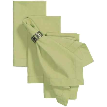 Tag Hemstitch Solid Cotton Napkins - 4-Pack in Sage - Closeouts