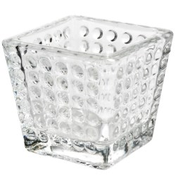 Tag Hobnail Votive Candle Holder - Glass in Clear