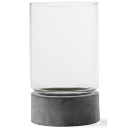 Tag Holstein Metal and Glass Hurricane - Medium in Grey