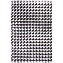 Tag Houndstooth Accent Rug - 2x3' in Black - Closeouts