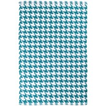 Tag Houndstooth Accent Rug - 2x3' in Turquoise - Closeouts