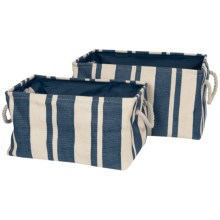 Tag Hudson Stripe Rectangular Crunch Bag - Set of 2 in Blue/White - Closeouts