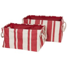 Tag Hudson Stripe Rectangular Crunch Bag - Set of 2 in Red/White - Closeouts