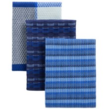Tag Indigo Tweed Dish Towels - Set of 3 in Indigo - Closeouts