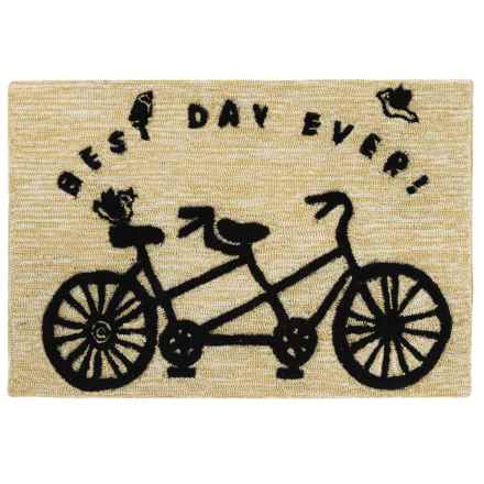 "Tag Indoor-Outdoor Accent Rug - 23x35"" in Best Day Ever - Closeouts"