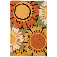 "Tag Indoor/Outdoor Washable Accent Rug - 22x34"" in Sunflower - Closeouts"