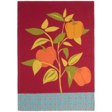 Tag Jardin Cotton Dish Towel in Bell Peppers - Closeouts