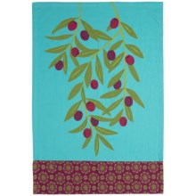 Tag Jardin Kitchen Dish Towel in Olive Branch - Closeouts
