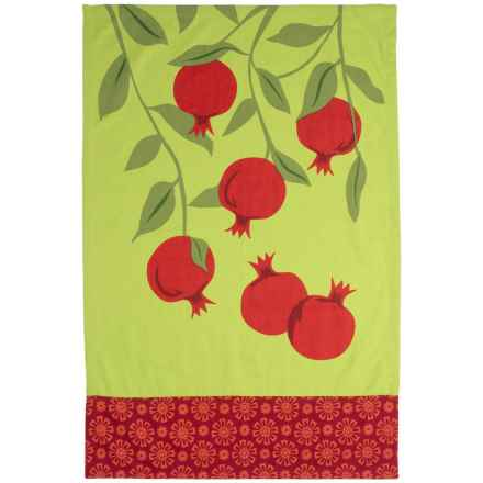 Tag Jardin Kitchen Dish Towel in Pomegranate - Closeouts