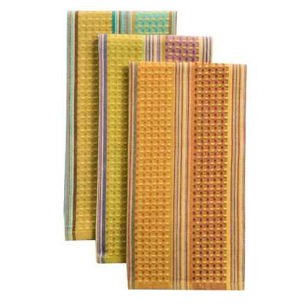 Tag Jardin Waffle-Weave Dish Towels - Set of 3 in Multi - Closeouts