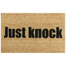 """Tag Just Knock Coir Doormat - 18x30"""" in Black/Natural - Closeouts"""