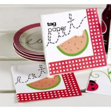 Tag Luncheon Paper Napkins - 20-Pack in Eat Watermellon - Closeouts
