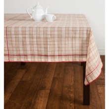 "Tag Market Plaid Tablecloth - 84x60"", Cotton in Multi - Closeouts"