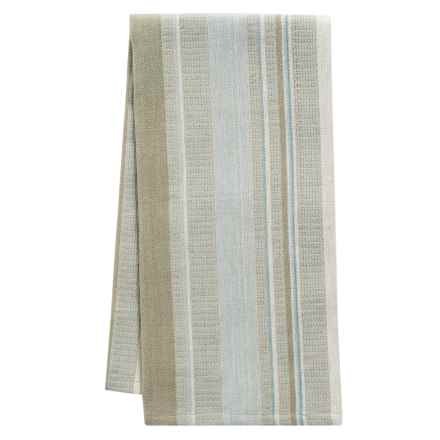 Tag Multi-Stripe Woven Dobby Dish Towel in Natural - Closeouts