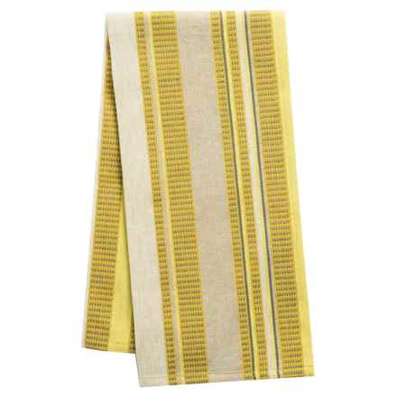 Tag Multi-Stripe Woven Dobby Dish Towel in Yellow - Closeouts