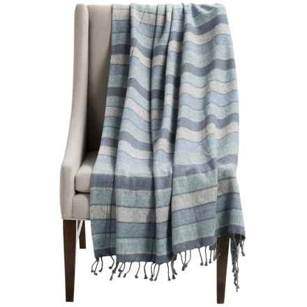 "Tag Natural Home Stripe Throw Blanket - 70x50"" in Blue - Closeouts"