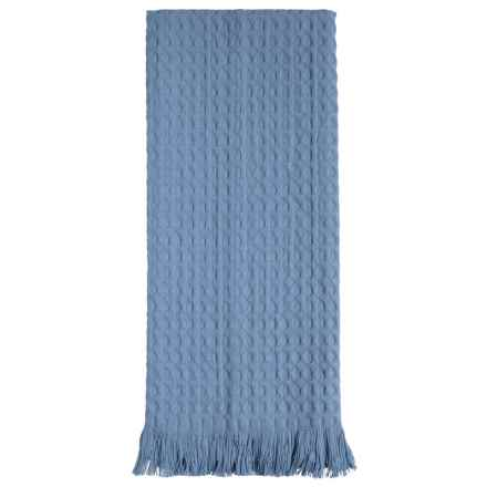 Tag Oversized Fringed Cotton Dish Towel in Blue - Closeouts