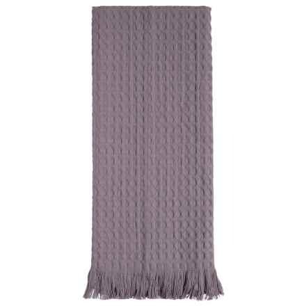 Tag Oversized Fringed Cotton Dish Towel in Gray - Closeouts