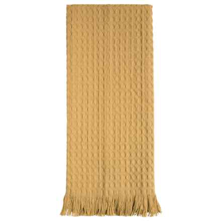 Tag Oversized Fringed Cotton Dish Towel in Honey - Closeouts