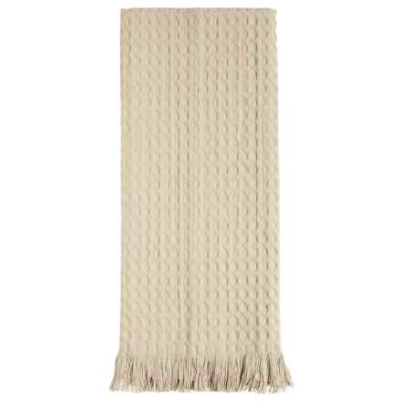 Tag Oversized Fringed Cotton Dish Towel in Natural - Closeouts