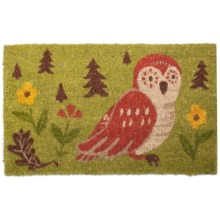 "Tag Owl Coir Entry Mat - 18x30"" in Oscar Owl - Closeouts"