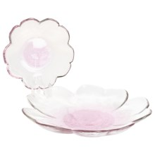 Tag Peony Plates - Set of 2, Glass in Light Pink - Closeouts