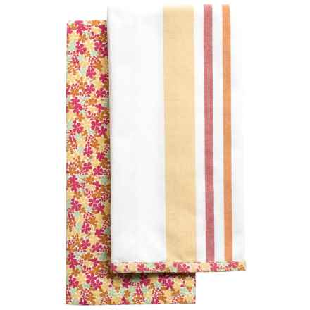 Tag Petite Floral Dish Towel - 2-Pack in Multi - Closeouts