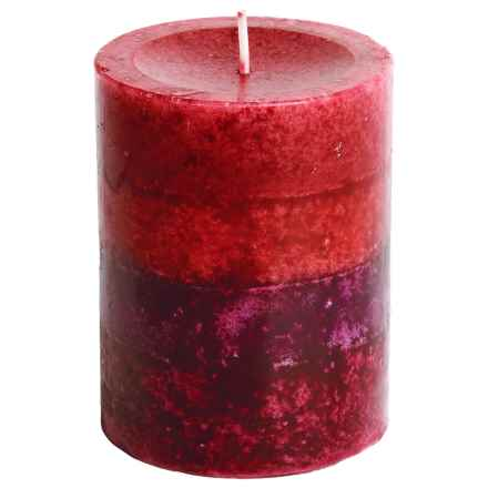 """Tag Pillar Candle - 3x4"""" in Kensington Dark Red - Closeouts"""
