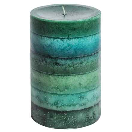 "Tag Pillar Candle - 4x6"" in Kensington Jade - Closeouts"