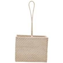 Tag Rattan Caddy - 2-Part in White - Closeouts